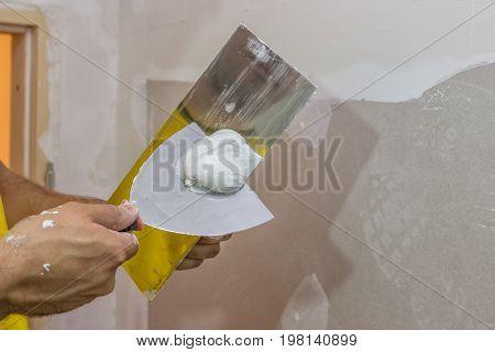 Trowel Full Of Plaster