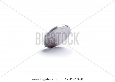 Motion spinning of Chinese coin on white background economy finance concept.
