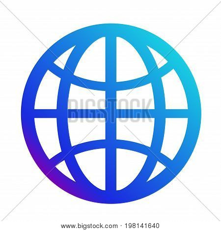 icon internet. Symbol of the website. Globe sign. Vector
