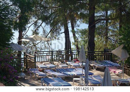 Morning on the Marmaris beach, Turkey,