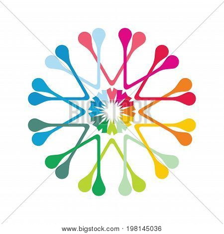 Color icon abstract illustration with abstract element