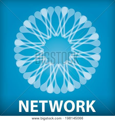 Network icon abstract illustration for your presentation