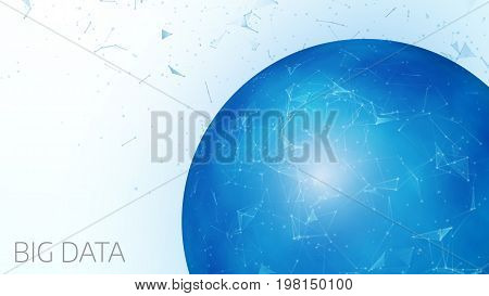 Abstract Blue Digital Globe On A Light Background