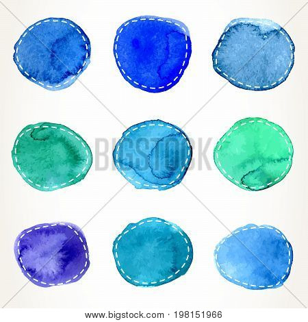Dashed Watercolor Circles