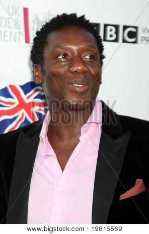 LOS ANGELES - APR 26:  Hakeem Kae-Kazim arriving at the 5th Annual BritWeek Launch Party at British Consul General's residence on April 26, 2011 in Los Angeles, CA..