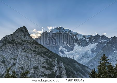 the Mont Blanc Mountain in the France Alps