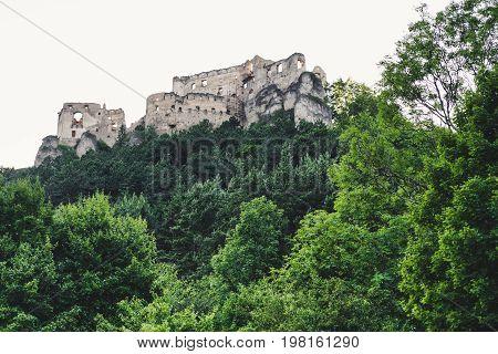Lietava castle in Sulov mountains at Slovakia
