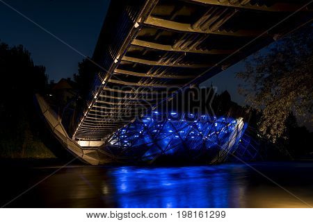 the Murinsel is a impressive Landmark in the City of Graz