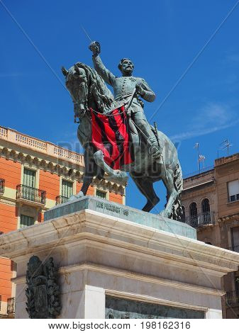 Monument to General Prima in Reus Spain
