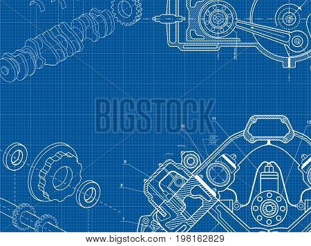 Engine Drawning Background 4
