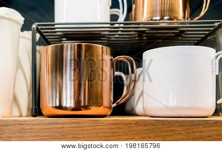 Coffee And Tea Stainless Steel Cup With Wire Handle Design