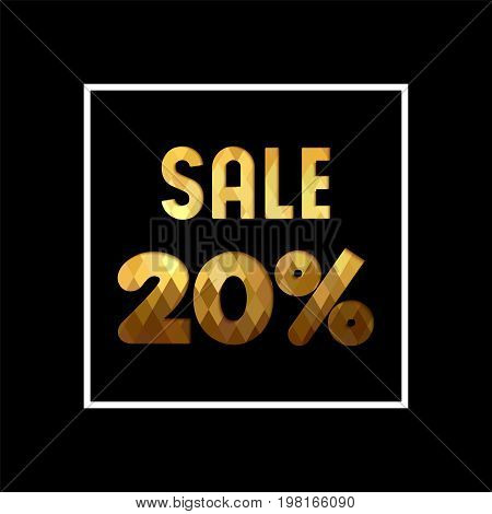 Sale 20% Off Gold Quote For Business Discount
