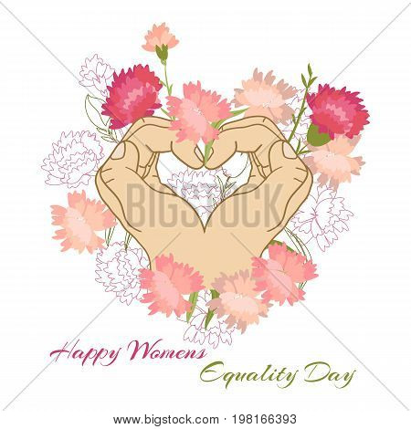 Holiday greetings illustration Womens Equality Day. Vector illustration for you. Modern fashion trend design.