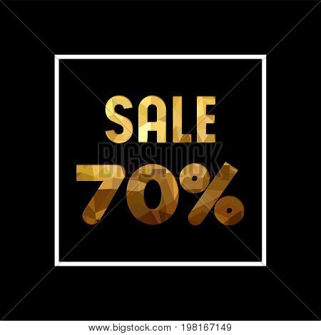 Sale 70% Off Gold Quote For Business Discount