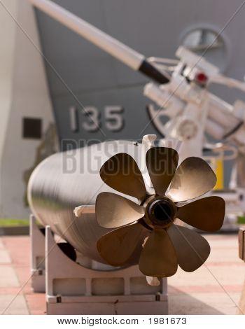 Torpedo Displayed Outside