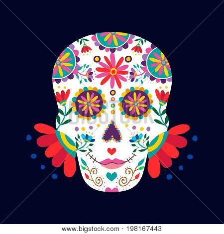 Day Of The Dead Skull For Mexican Celebration