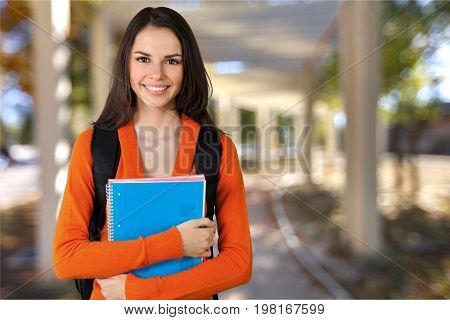 Girl young student teenage girl college student high school student isolated
