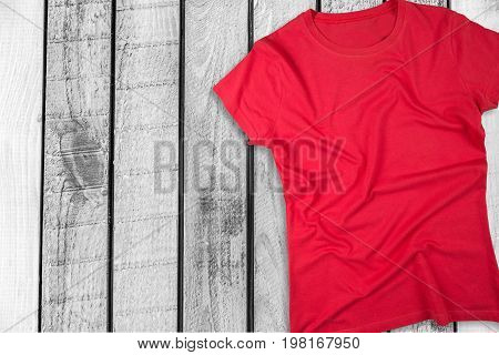 Red view shirt top t-shirt color white