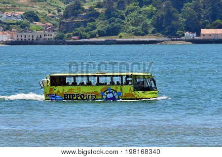 Amphibious Vehicle In The River Tagus. Lisbon, Portugal