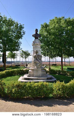 Portugal, Evora, Sculpture Of The Doctor Barahona