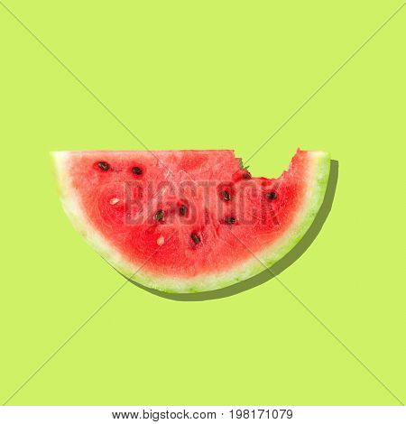 Fresh slice watermelon bitten healthy lifestyle healthy food low calorie