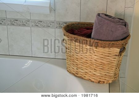 Basket And Towels