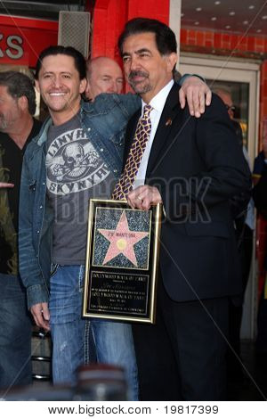 LOS ANGELES - APR 29:  Clifton Collins Jr, Joe Mantegna attending the Hollywood Walk of Fame Star Ceremony for Joe Mantegna at Hollywood Walk of Fame on April 29, 2011 in Los Angeles, CA