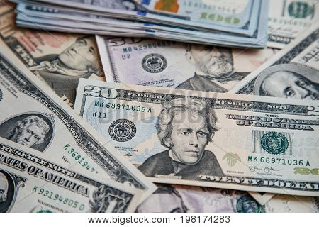 Background With Money American Dollar Bills