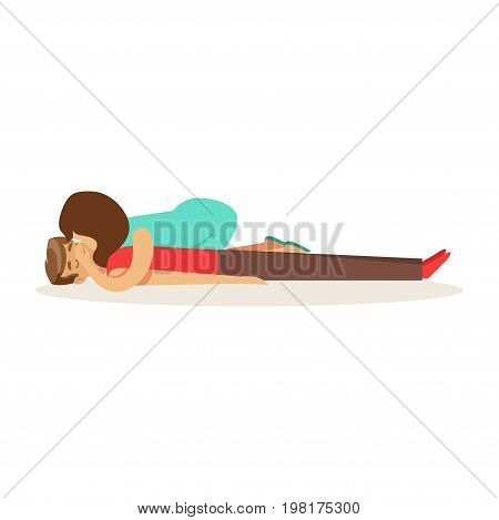 Woman doing artificial respiration for breathless man, reanimation procedure first aid vector Illustration on a white background
