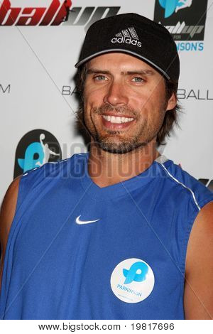 LOS ANGELES - MAY 1:  Joshua Morrow arriving at the 1st Annual Ball Up Celebrity Streetball Game at Cal State Northridge's Matadome Stadium on May 1, 2011 in Northridge, CA