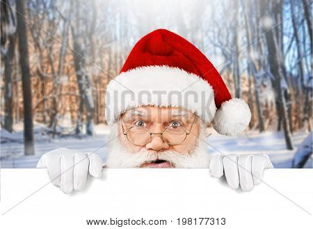 Portrait claus santa santa claus holiday background holiday party fun