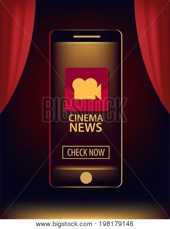 Information banner, video and news in smartphone