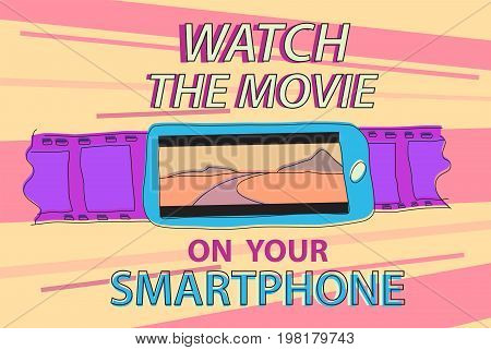 Information banner, video and cinema news in smartphone
