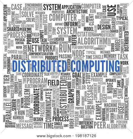 Distributed Computing. Word cloud.