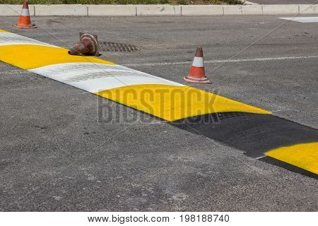Just Painted Stripes On A Speed Bump