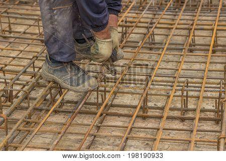 Tying Rebar By Hand 3
