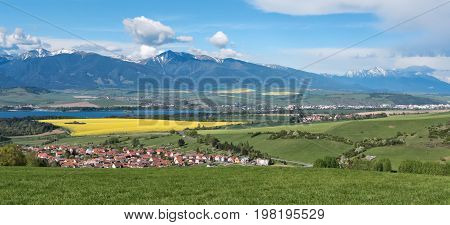 Panoramic landscape - region Liptov at Slovakia