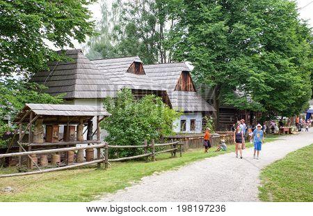 MARTIN SLOVAKIA - JULY 20: Museum of slovak village on July 20. 2016 in Martin