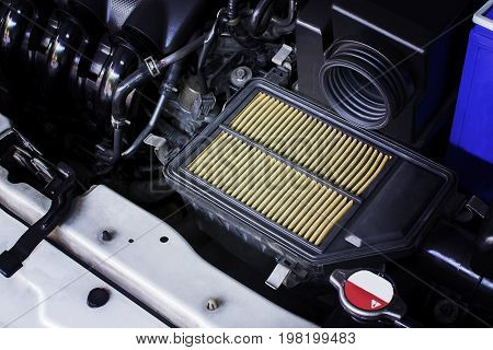 Air filter The old dirty air filter makes the air flowing through the intake manifold in the engine car less.