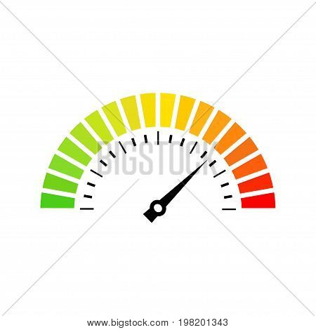 Speed metering dial vector icon illustration isolated on white background
