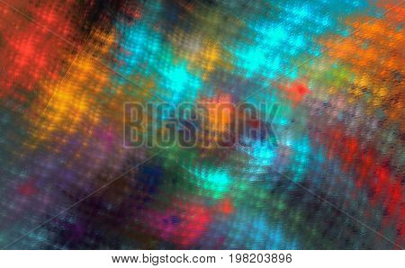 Iridescent checkered fractal pattern for a Scottish skirt plaid bandanna. Abstract background.
