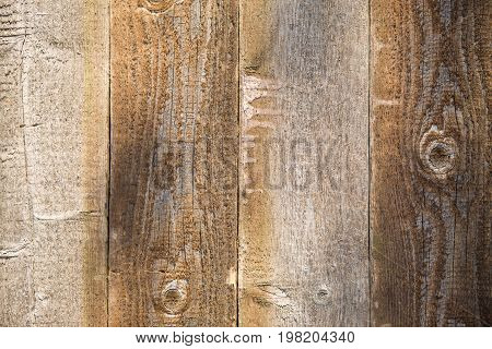 Photo of brown wooden texture, board vertically
