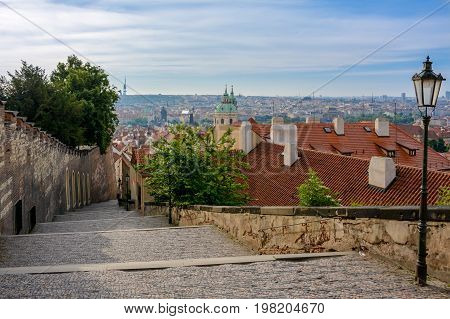 Old street in Prague Castle, Mala Strana, Prague, Czech Republic