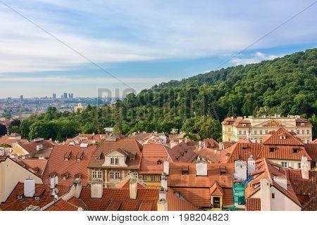Morning View of Prague from Prague Castle, Czech Republic
