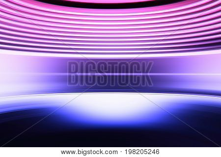 Curved retro arcade abstract street wall background hd