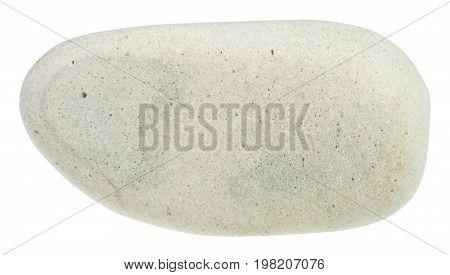 Pebble Of Limestone Mineral Isolated
