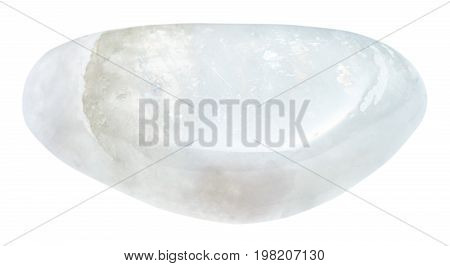 Polished Moonstone (adular) Stone Isolated