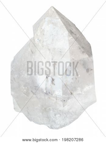 Crystal Of Rock-crystal Isolated