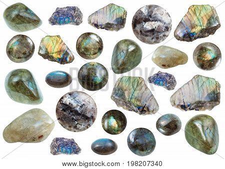Collection Of Various Labradorite Gemstones