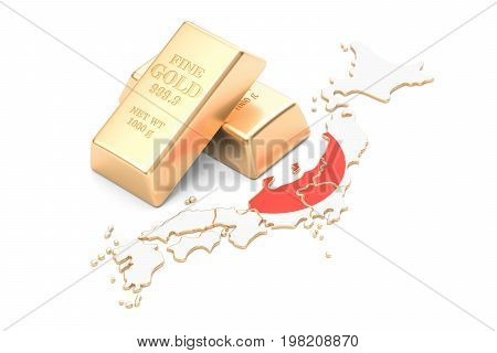 Foreign-exchange reserves of Japan concept 3D rendering isolated on white background